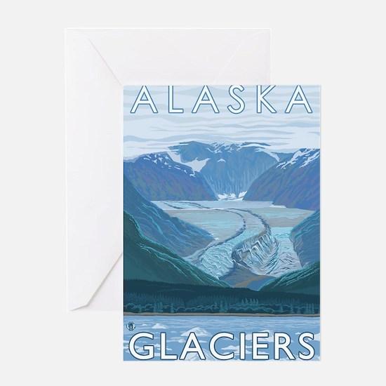 Alaska - Glaciers Greeting Cards