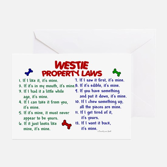 Westie Property Laws 2 Greeting Cards (Pk of 20)