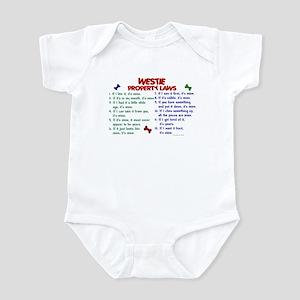 Westie Property Laws 2 Infant Bodysuit