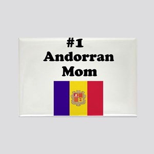 #1 Andorran Mom Rectangle Magnet