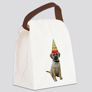 Puggle Birthday Canvas Lunch Bag