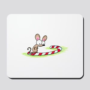 mouse on a candy cane Mousepad