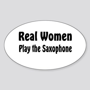 Real Women Play Oval Sticker