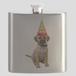 Puggle Birthday Flask