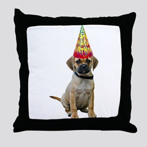 Puggle Birthday Throw Pillow