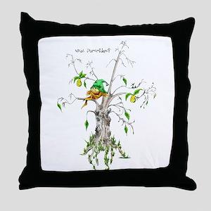 Elf in a Pear Tree - What Par Throw Pillow