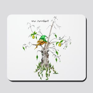 Elf in a Pear Tree - What Par Mousepad