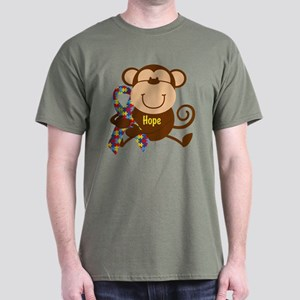 Monkey Autism Hope Dark T-Shirt