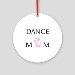Team Dance Mom Candy Curls Round Ornament