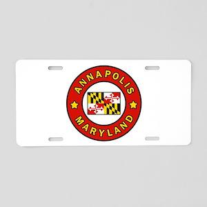 Annapolis Maryland Aluminum License Plate