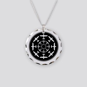 Lifting Skyward Indicator Necklace Circle Charm