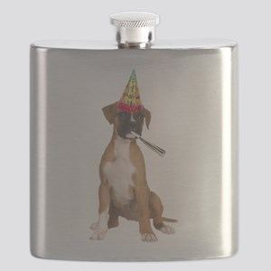 Boxer Birthday Flask