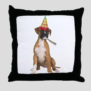 Boxer Birthday Throw Pillow