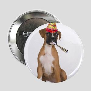 """Boxer Birthday 2.25"""" Button"""