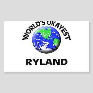 World's Okayest Ryland Sticker