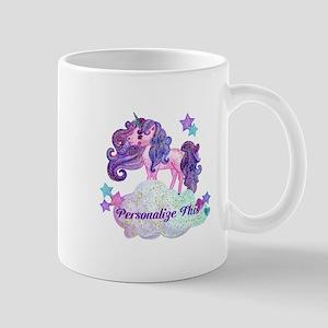 Watercolor Unicorn Monogram Mugs