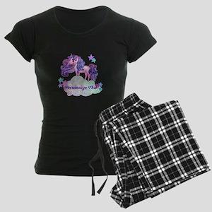Watercolor Unicorn Monogram Pajamas