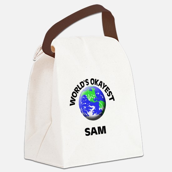 World's Okayest Sam Canvas Lunch Bag