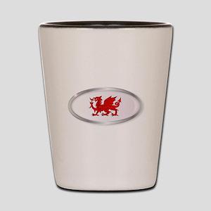 Welsh Dragon Oval Button Shot Glass