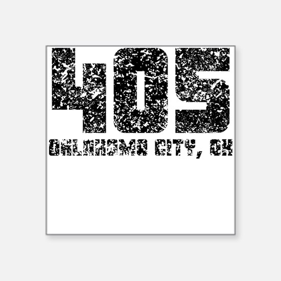 405 Oklahoma City OK Area Code Sticker