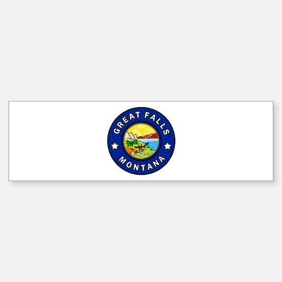 Great Falls Montana Bumper Bumper Bumper Sticker