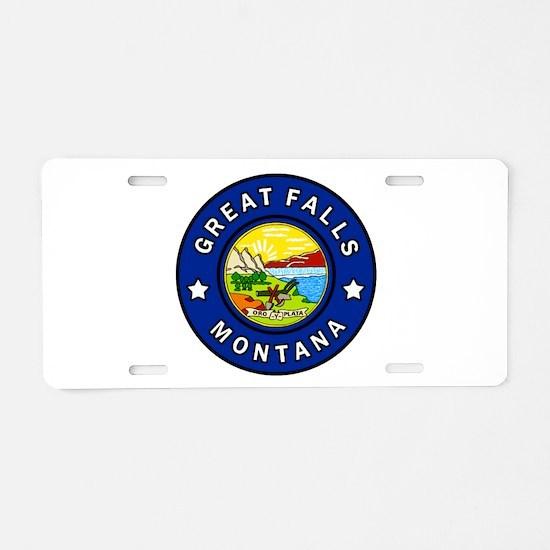 Great Falls Montana Aluminum License Plate