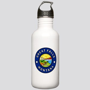 Great Falls Montana Stainless Water Bottle 1.0L