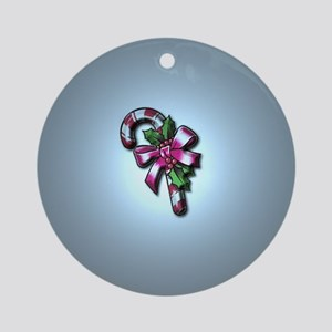 Candy Cane Ornament (Round)