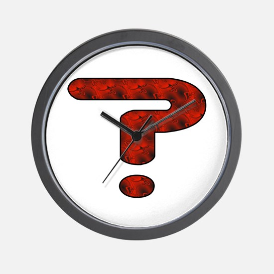 Red Question Mark Wall Clock