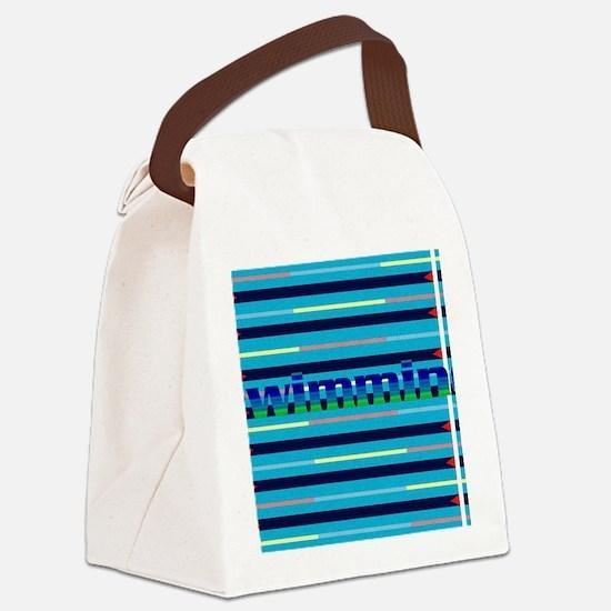 Cute Swim Canvas Lunch Bag