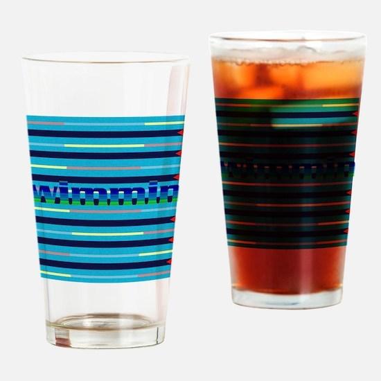 Cute Swim Drinking Glass
