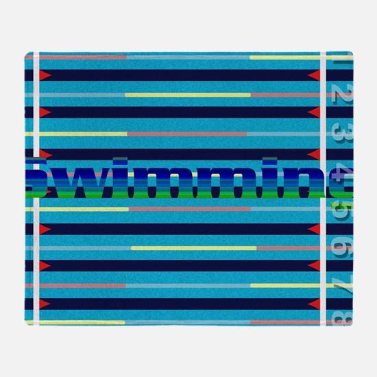 Cute Swimmers Throw Blanket