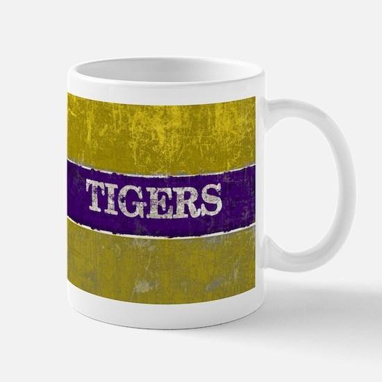 PURPLE YELLOW GOLD GRAYSTONE TIGERS STRIPE VI Mugs