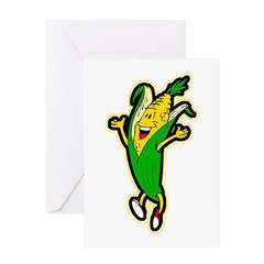 Dancing Corn Greeting Card