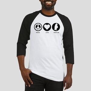 Peace Love Penguin Baseball Jersey