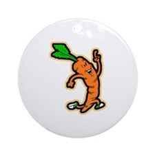 Dancing Carrot Ornament (Round)