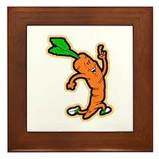 Dancing Carrot Framed Tile