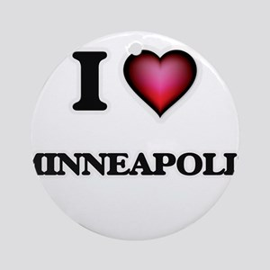 I love Minneapolis Minnesota Round Ornament