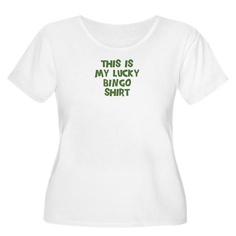 Lucky Bingo Women's Plus Size Scoop Neck T-Shirt