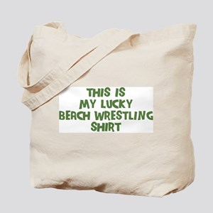 Lucky Beach Wrestling Tote Bag