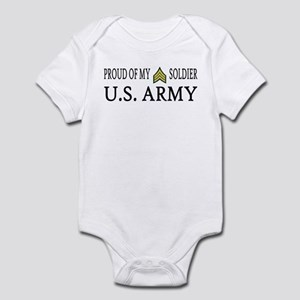 SGT - E5 - Proud of my soldier Infant Creeper
