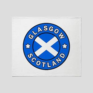 Glasgow Scotland Throw Blanket