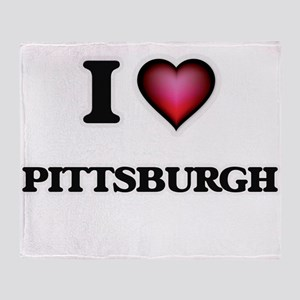 I love Pittsburgh Pennsylvania Throw Blanket