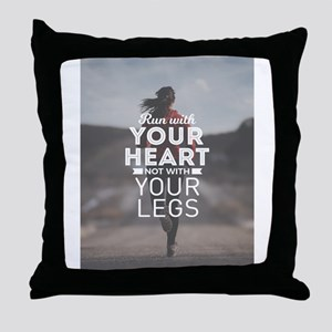Run With Your Heart Throw Pillow