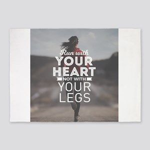 Run With Your Heart 5'x7'Area Rug