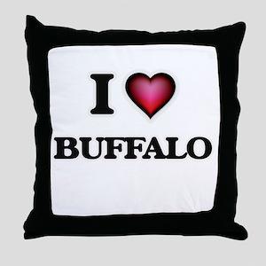 I love Buffalo New York Throw Pillow