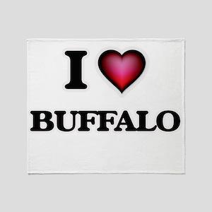 I love Buffalo New York Throw Blanket