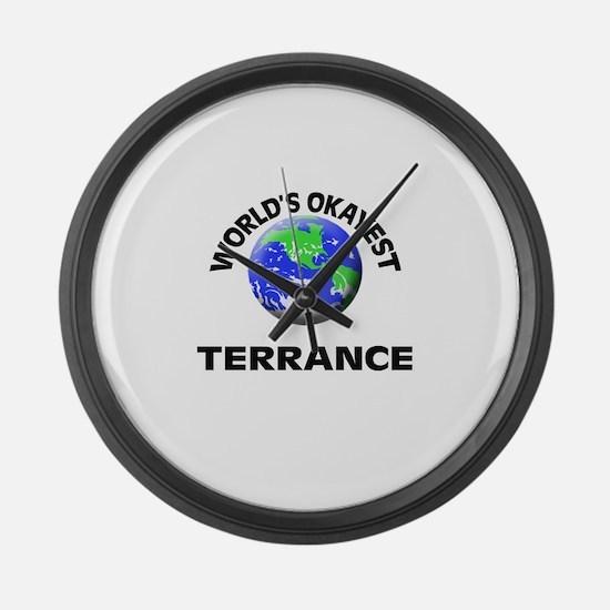 World's Okayest Terrance Large Wall Clock