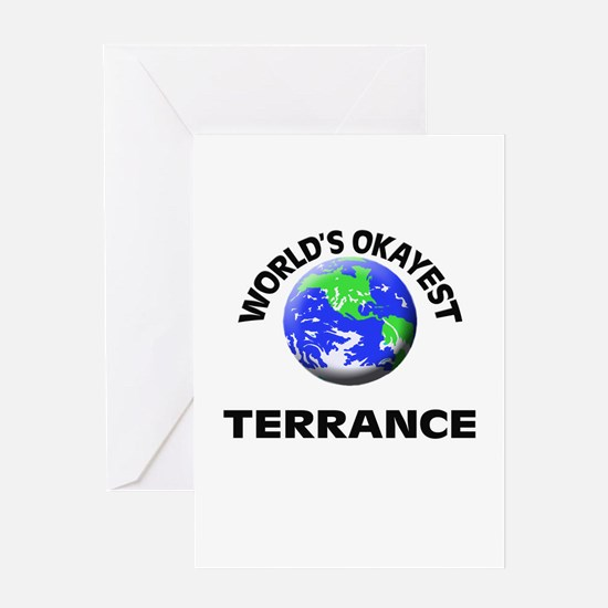 World's Okayest Terrance Greeting Cards