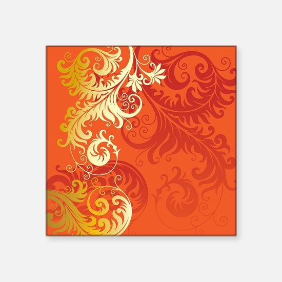 "Cute Filigree Square Sticker 3"" x 3"""